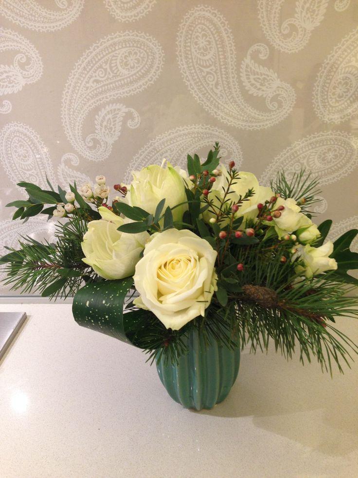 Amaryllis, Avalanche Rose, Chamelaucium uncinatum, Pinus sylvestris, Eucalyptus