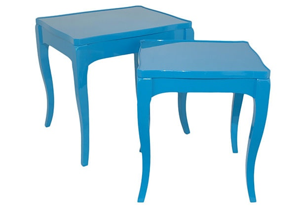 Blue Lillian End Table, Set of 2 on OneKingsLane.com