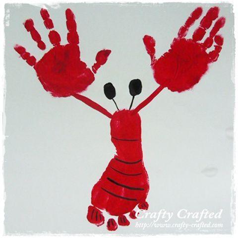 Pintura de manos Cangrejo