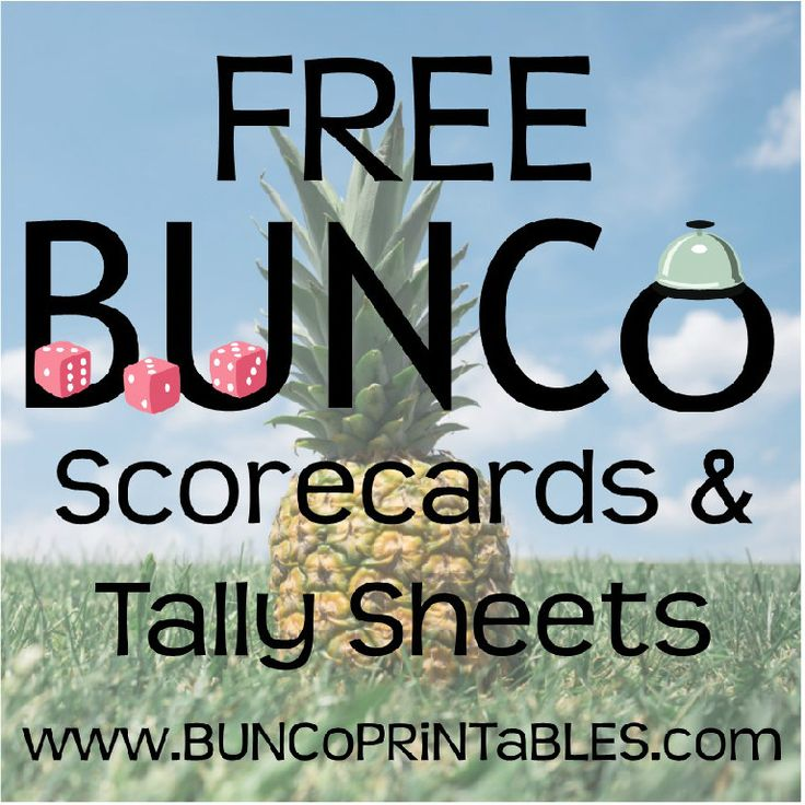 BUNCoPRiNTaBLES - Printable Bunco Score Cards, Tally Sheets, Name Tags, Invites & Bordered Paper
