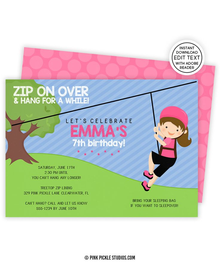 7 best kids birthday invitations images on pinterest birthday zip line invitation zip line party zipline birthday invitations zip line invite filmwisefo Images