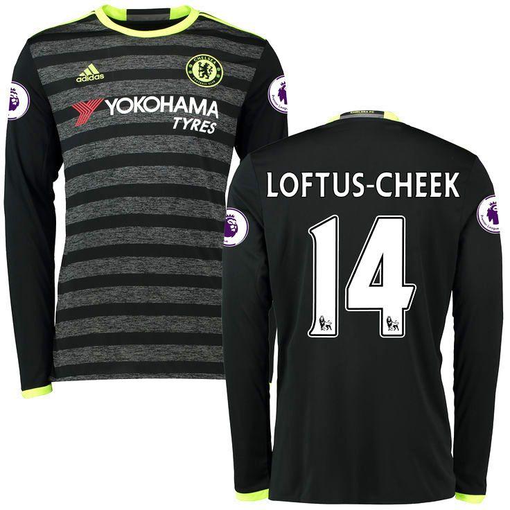 Ruben Loftus-Cheek Chelsea adidas 2016/17 Away Replica Long Sleeve Jersey - Black - $124.99