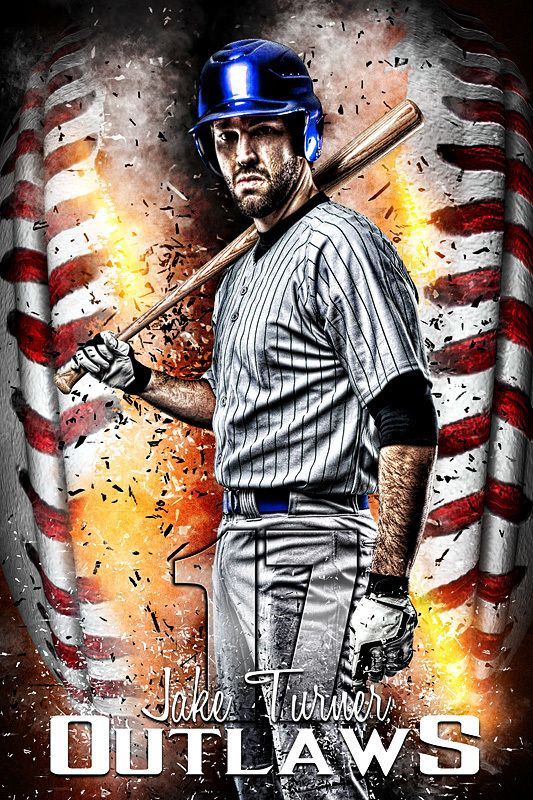 Player Banner Sports Photo Template - Baseball Inferno