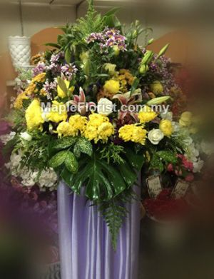 You will be sorely missed. Sympathy flowers delivery Muar: Convey your heartfelt condolences with our wreath flowers to Muar. Order online now! Delivery coverage: Within Malaysia