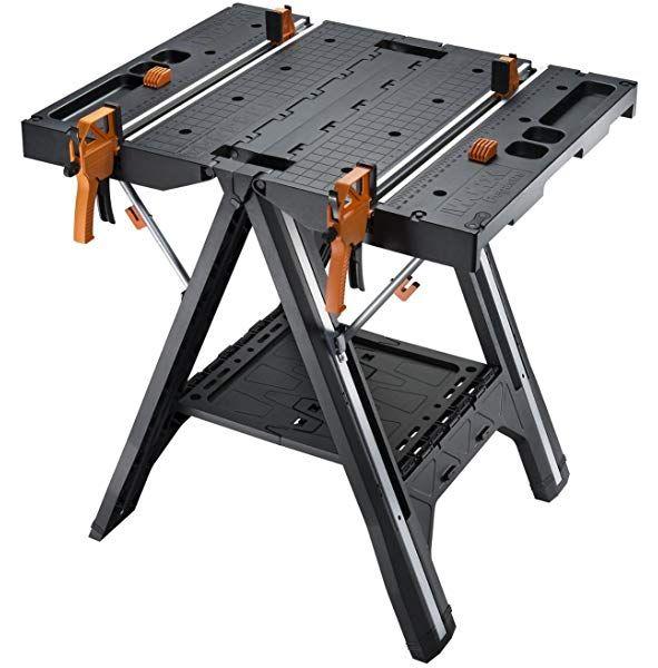 Wolfcraft Master 700 Spann Und Maschinentisch 6908000 Hohenverstellbar Standsicherer Werktisch Fur Montage St Faltbare Werkbank Tragbare Werkbank Sagebock