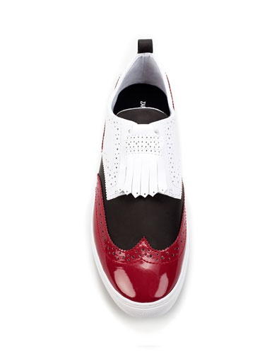 COMBINED FRINGED SNEAKER - Shoes - Man - ZARA    ain't this one looks like Prada?