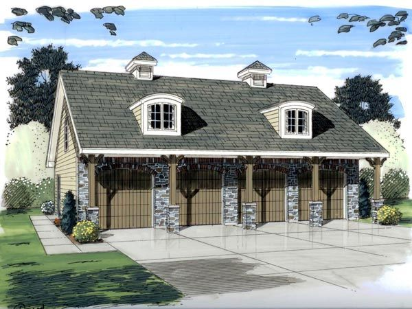Garage Plans With 2-Bedroom Apartment, Two Car Garage Plans