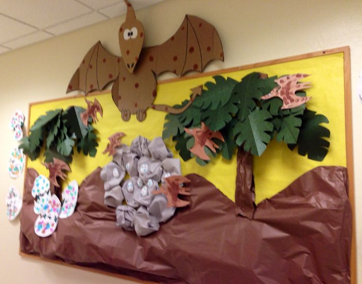 Dinosaur Bulletin Board Idea. This is so cool!