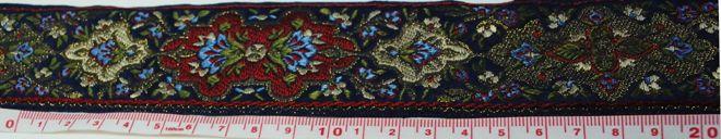 古典柄の正統派ジャカード織りのリボンです(4カラー) フランスリボン専門手芸店 famille/ファミーユ