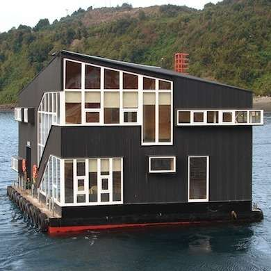 I want to live in a floating prefab house making a home pinterest prefab and bob vila - Floating prefabricated home ...