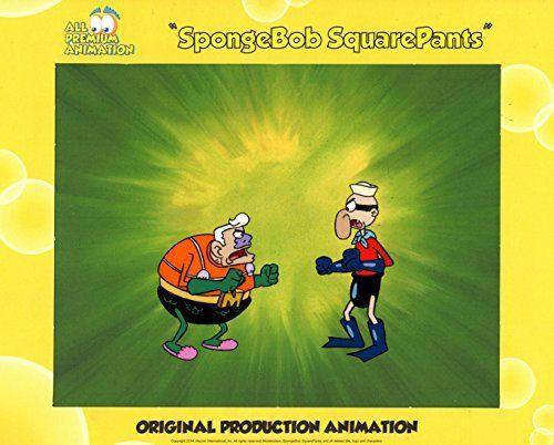 Hand Painted SpongeBob SquarePants Production Cel from episode MERMAIDMAN & BARNACLEBOY II #4681 Fre @ niftywarehouse.com #NiftyWarehouse #Spongebob #SpongebobSquarepants #Cartoon #TV #Show
