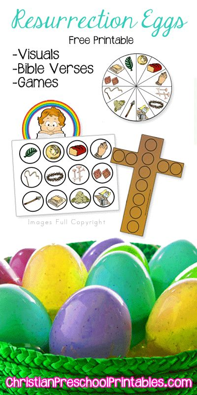 Resurrection Egg Printables & Games: