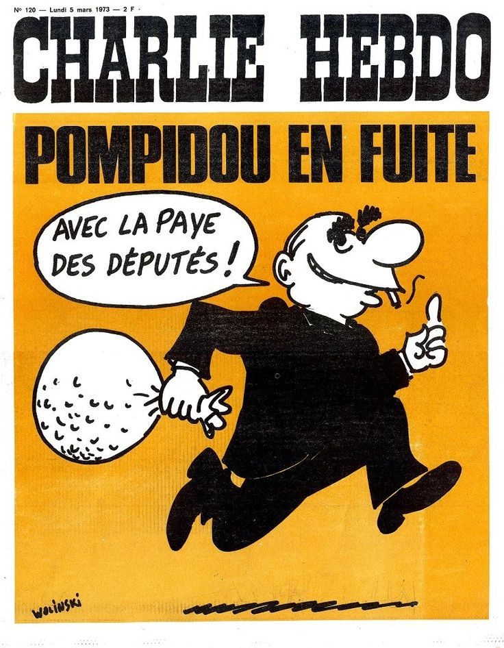 Charlie Hebdo - # 120 - 5 Mars 1973 - Couverture : Wolinski