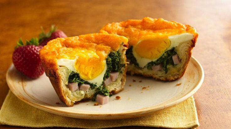 Healthful spinach is combined with a cheesy filling in a tender biscuit cup.