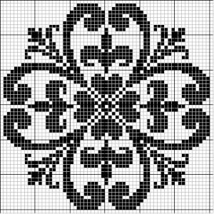 Round 37 | Free chart for cross-stitch, filet crochet | Chart for pattern - Gráfico