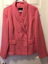 Metro Style Woman's Size 12 2 Piece Suit Super Soft PINK Career Skirt & Blazer