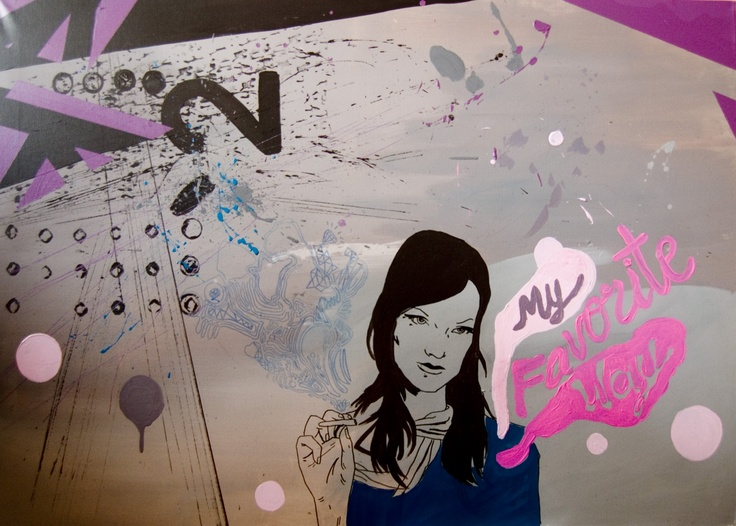 'My way' by Dagmara Rybak  acryl on canvas; 110 x 80 cm; Pop Art; 2010.  Dagmara Rybak  www.studentartworks.com