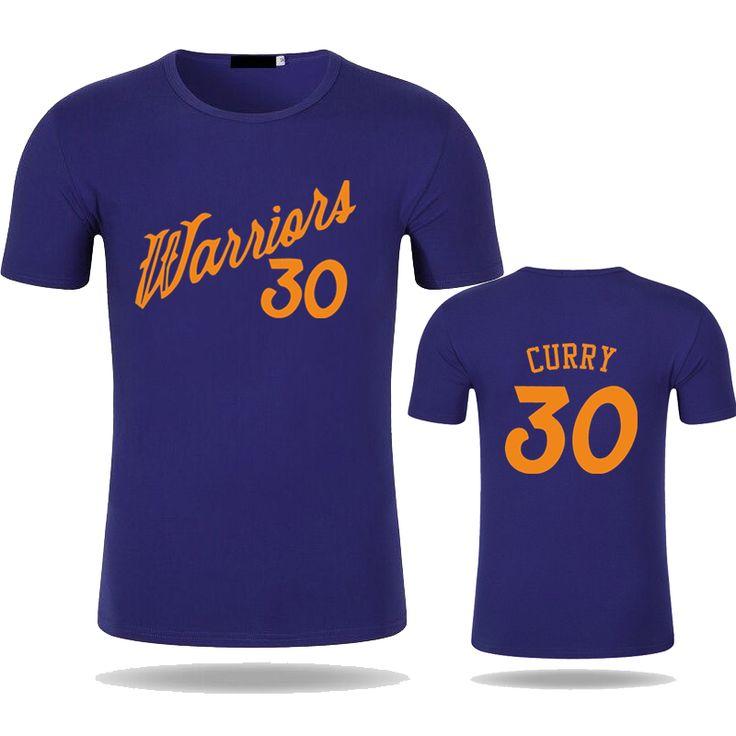 2017 Fashion Warriors T Shirt Men Print Stephen Curry T shirt Summer Male Modal Cotton Shirts. Click visit to buy #TShirt