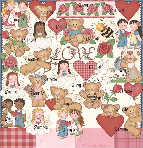 Craft Clipart 19: Love/Valentine