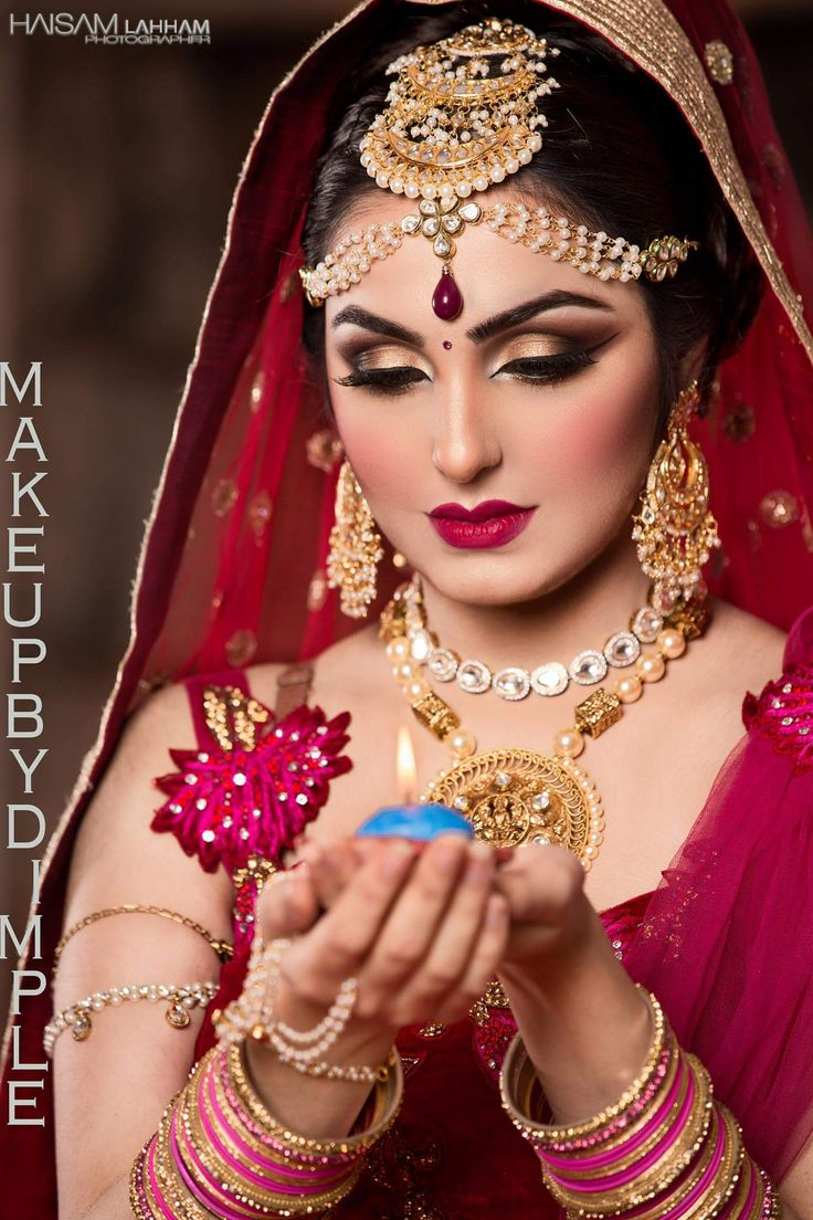 makeup indian bridal bride desi dimple india modern looks dimples bollywood cd jewelry traditional