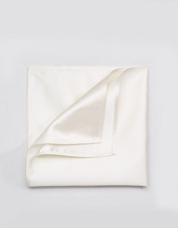 Devils Advocate White Pocket Square - White
