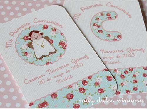 fiestas infantiles comunion chocolatinas3 Primera comunión, recordatorios y chocolatinas con decoración floreada