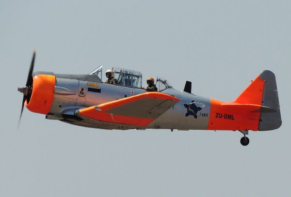 North American T-6 Texan/Harvard of South African Air Force Historic Flight,SAAF Museum Flying Training Day October 2013.