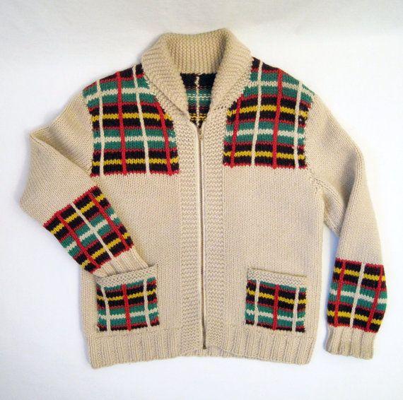 Highland Plaid Mary Maxim knit...