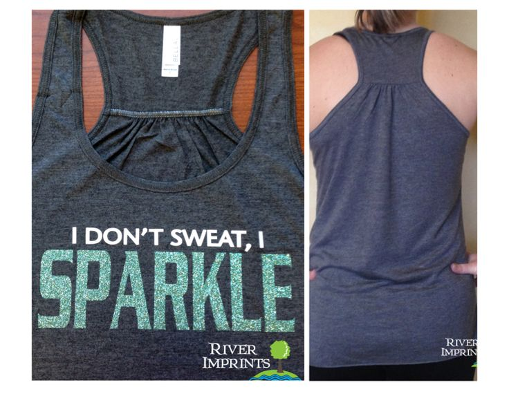 SPARKLE Flowy Tank workout jersey racerback tank by RiverImprints, $22.00