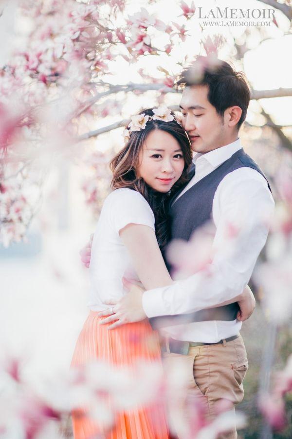 Stylized Wedding Photographer Toronto LaMemoir | #cherryblossom #engagement #bridetobe #Toronto #WashingtonDC #wedding #bride #cherry #blossom #floral #bride #photography #enchanting #flower #floral