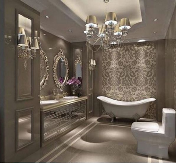 This Bathroom Is So Glamorous This Design Is A Must For Your Dreamhome