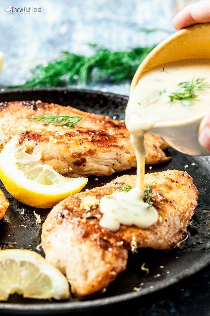 Healthy Creamy Lemon Dill Chicken