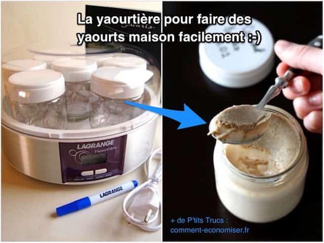 Heureusement, il existe un produit malin pour faire de délicieux yaourts à la maison facilement. Ce produit malin, c'est la yaourtière programmable Lagrange qui vous permet de faire des yaourts en 2 min. Regardez :-)  Découvrez l'astuce ici : http://www.comment-economiser.fr/yaourtiere-pour-faire-delicieux-yaourts-maison-facilement.html?utm_content=buffer88ffe&utm_medium=social&utm_source=pinterest.com&utm_campaign=buffer