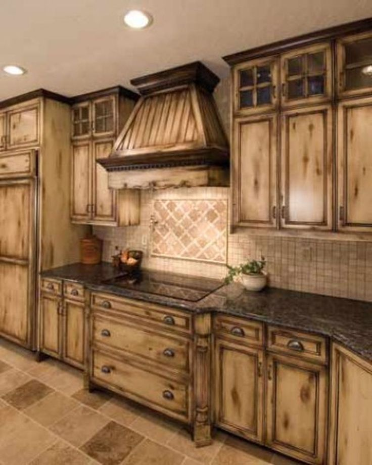 Knotted Oak Kitchen Cabinets: Home Design On Kitchen In 2019