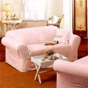 Rachel Ashwell SOFA Slipcover Pink Denim Simply Shabby Chic Couch