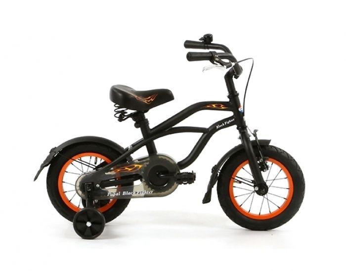popal black fighter b1200 mat zwart - Delta Bikes