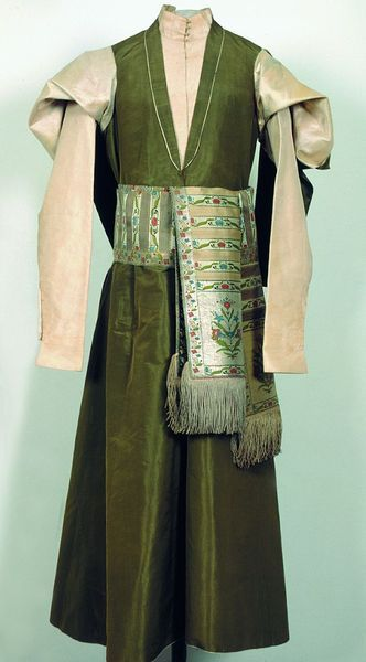Kontusz - the traditional outfit of Polish aristocrats, c.a. 1770, Cracow, Poland.
