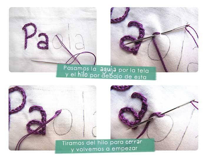Cómo bordar un nombre a mano- Tutorial paso a paso | Sewing ...