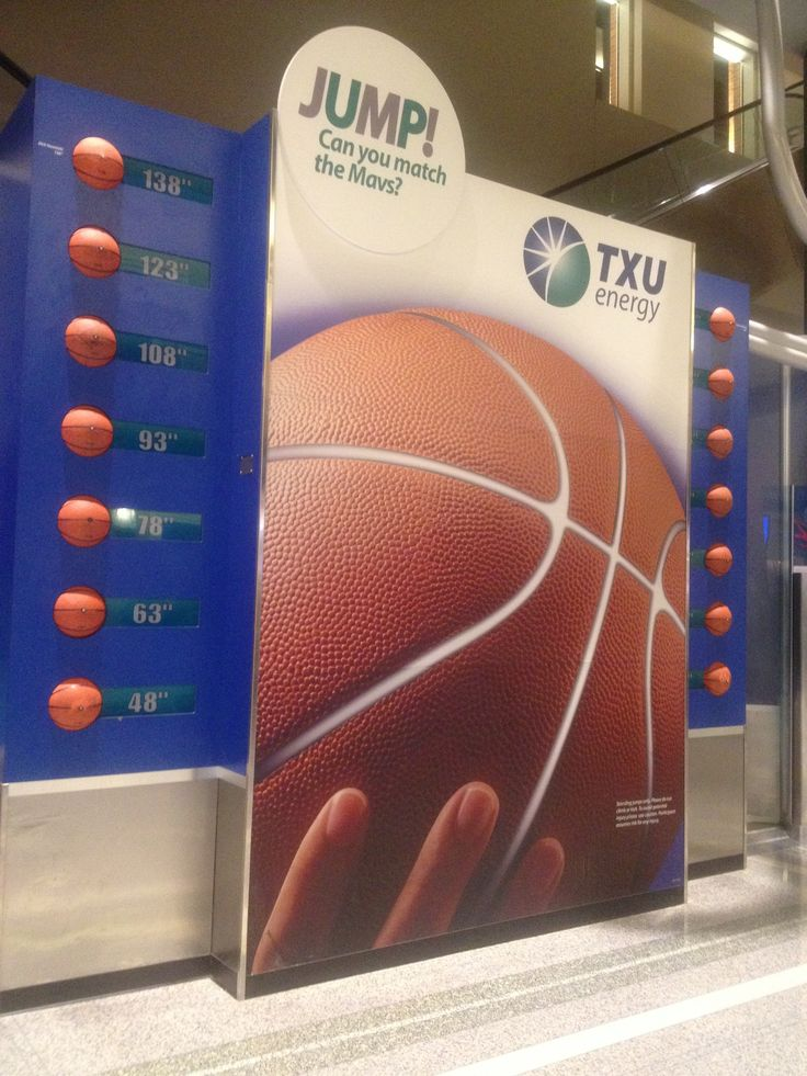 A basketball challenge for fans at Dallas Mavericks NBA games