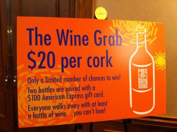This might be a good way to go. Everyone gets a bottle of wine, two people get a $100 American Express card. How much would wine would we have to have to make the difference. Get some wine donated? Could do something similar with restaurant vouchers?