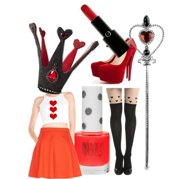 Queen of Hearts Halloween DIY costume also could take playing card and tape it to the shirt!