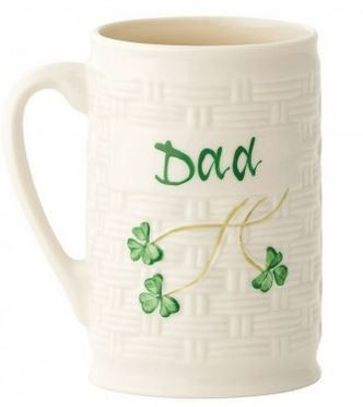 Great fathers day gift idea, Belleek Dad Personalised Mug  http://www.standun.com/belleek-dad-personalised-mug.html