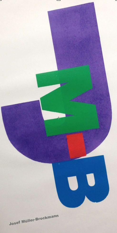 Homage to Josef Müller-Brockmann (2014). Design by Alan Kitching. Silkscreen print by Advance Graphics.