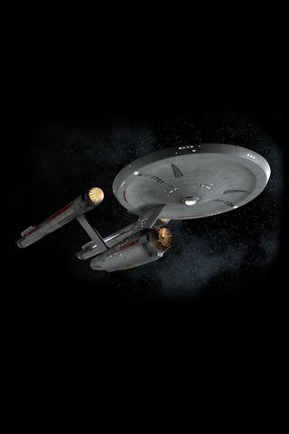 The Consitiution class USS Enterprise from the original Star Trek series