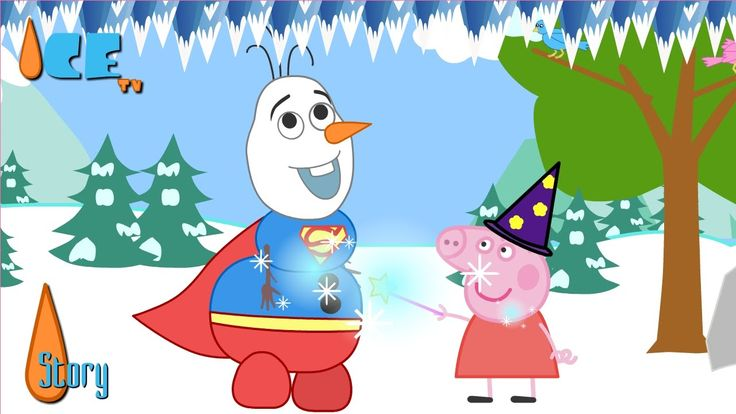 Peppa Pig Enchant Olaf Become Superman Funny Story by Ice TV