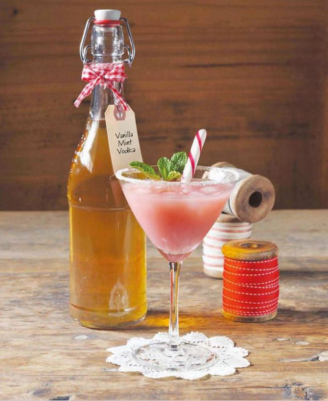 Vanilla  Mint Vodka from Vegan Food Gifts by Joni Newman - you still have time to make it. It only takes 24 hours!