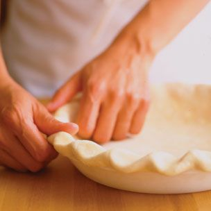 Basic pie dough recipe (without shortening) using a stand mixer.