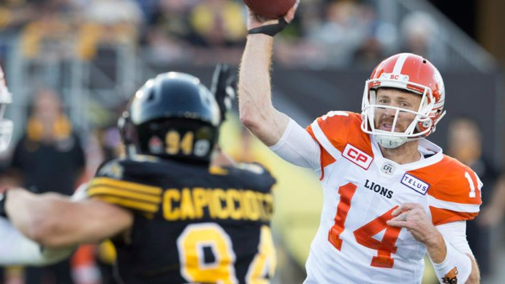 Week 4: July 15 2017 - BC. 41 at Ham. 26 -TRAVIS LULAY ENTERED THE GAME FOR THE LIONS EARLY IN THE FIRST QUARTER (THE CANADIAN PRESS O'Leary: A night to remember for Travis Lulay - CFL.ca