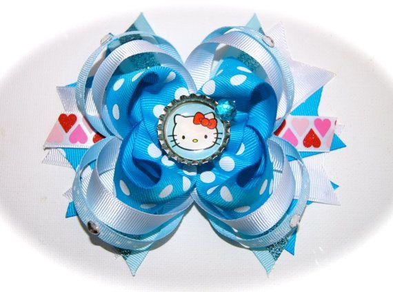 Blue Hello Kitty Bow