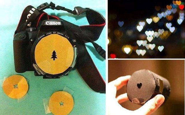 DIY Heart Bokeh Lens Filter. camera-effects-lense-cover-design